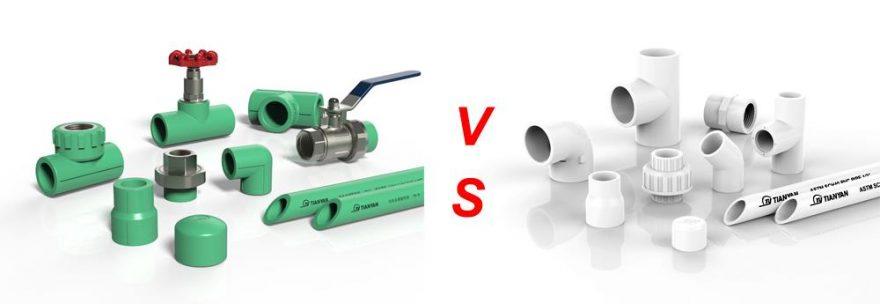 So sánh ống nhựa PPR và PVC